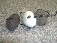 Wool Cat Toy Mouse - Natural Colors